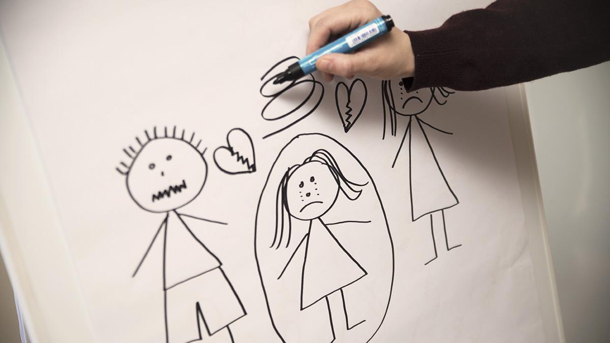 reaktion på vold hos børn