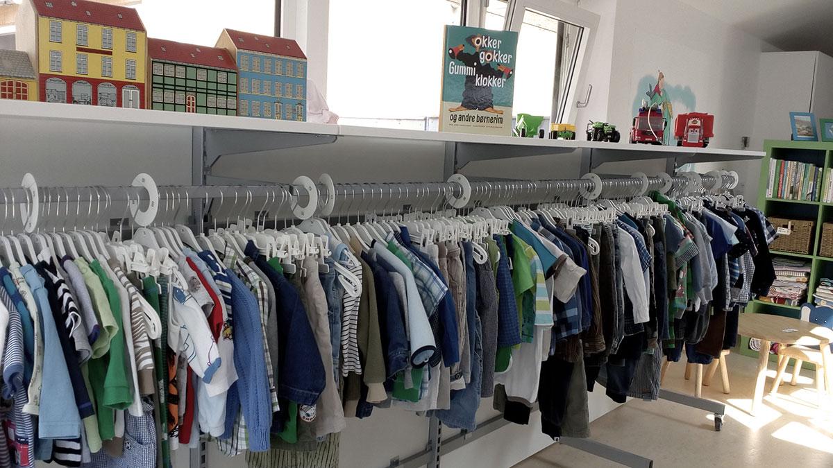 Mødrehjælpen butik med genbrug til børn